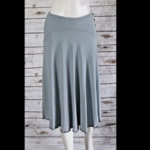 Ghost London Pale Gray Blue Skirt midi size small